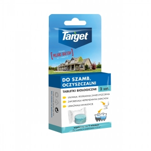 Biological tablets for septic tanks and treatment plants - 2 pieces. Target